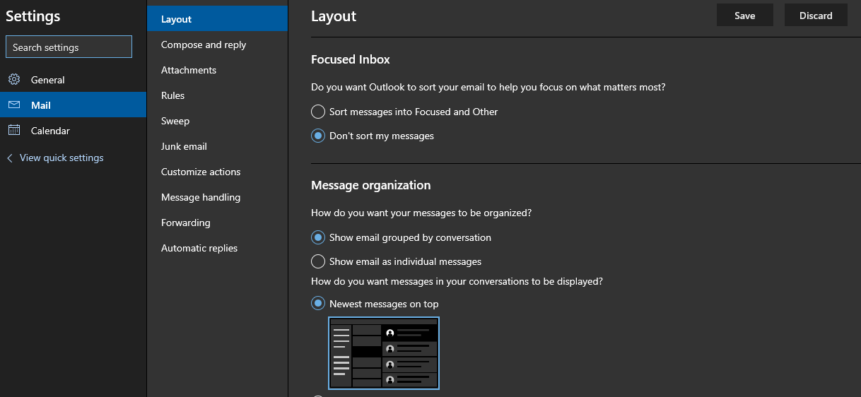 New Outlook Preview-Settings Layout